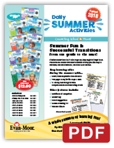 Daily Summer Activities School fundraiser parent flyer English