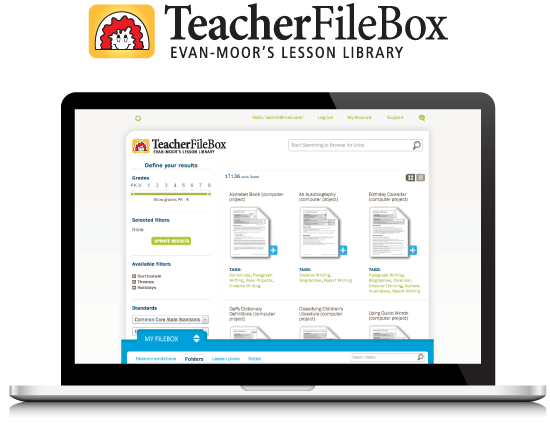 TeacherFileBox - Evan-Moor's Lesson Library