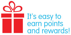 It's easy to earn points and rewards