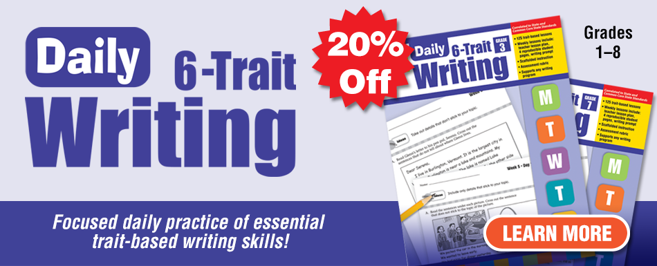 20% off Daily 6-Trait Writing titles