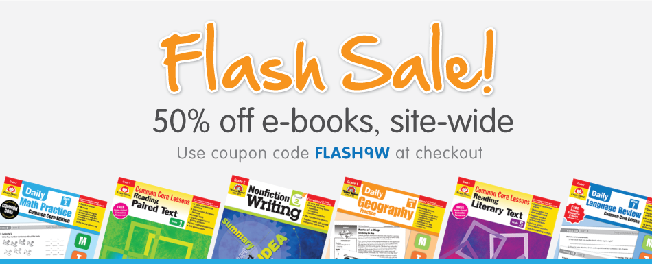 Flash Sale! 50% off e-books, site-wide. Use coupon code FLASH9W at checkout
