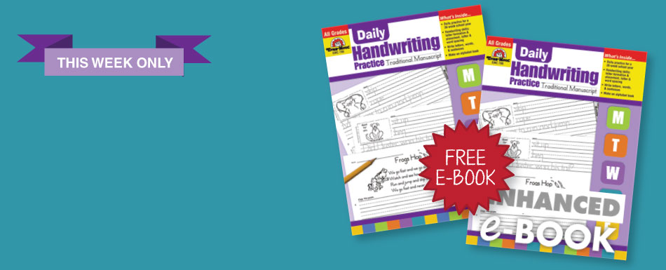 Buy a Daily Handwriting Practice book and get the e-book for 