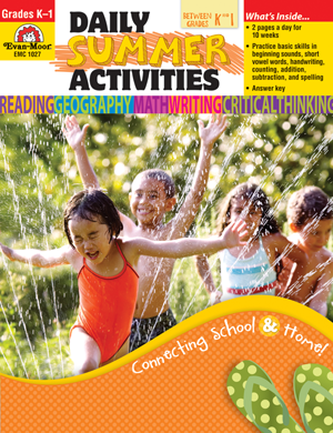 Daily Summer Activities: Moving from Kindergarten to 1st Grade, Grades K-1 - Activity Book