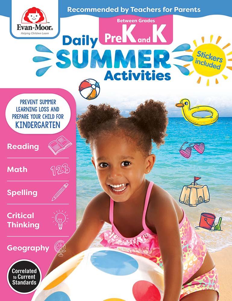 Evan-Moor Daily Summer Activities: Between Grades PreK and Kindergarten,  Grades PreK-K - Activity Book