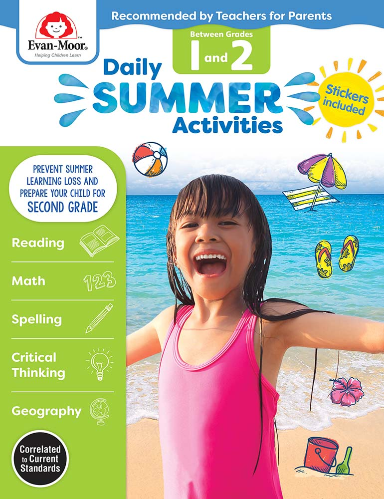 Evan-Moor Daily Summer Activities: Between Grades 1st Grade and 2nd Grade,  Grades 1-2 - Activity Book