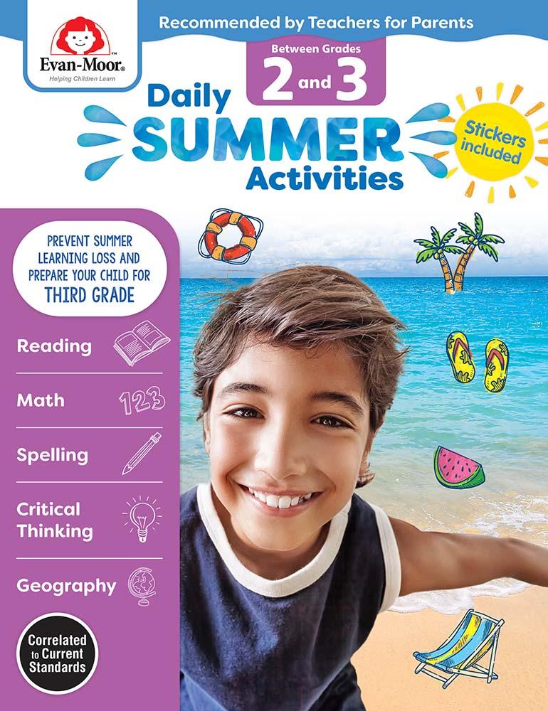 Evan-Moor Daily Summer Activities: Between Grades 2nd Grade and 3rd Grade,  Grades 2-3 - Activity Book