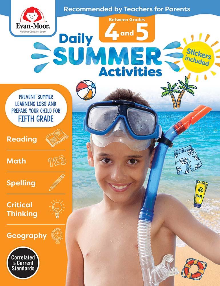 Evan-Moor Daily Summer Activities: Between Grades 4th and 5th Grades,  Grades 4-5 - Activity Book