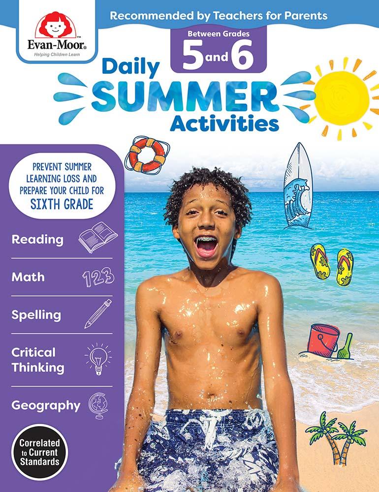 Evan-Moor Daily Summer Activities: Between Grades 5th Grade and 6th Grade,  Grades 5-6 - Activity Book
