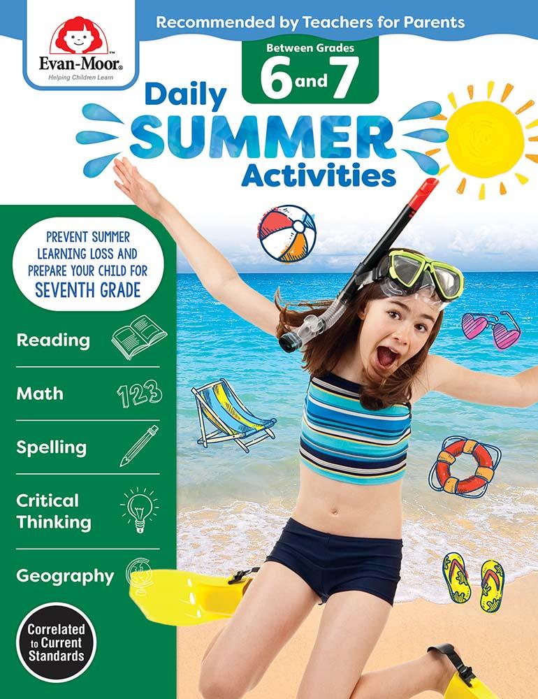 Evan-Moor Daily Summer Activities: Between Grades 6th Grade and 7th Grade,  Grades 6-7 - Activity Book