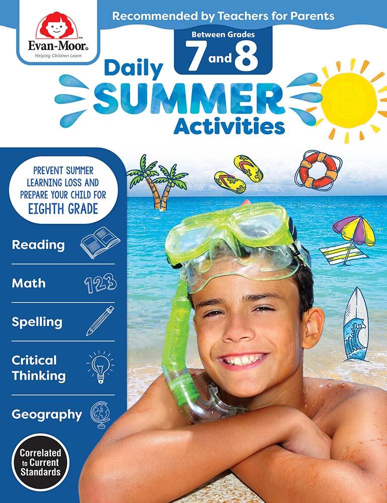 Evan-Moor Daily Summer Activities: Between Grades 7th Grade and 8th Grade,  Grades 7-8 - Activity Book