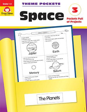 Evan-Moor Theme Pockets: Space, Grades 1-3 - Teacher Reproducibles, E-book
