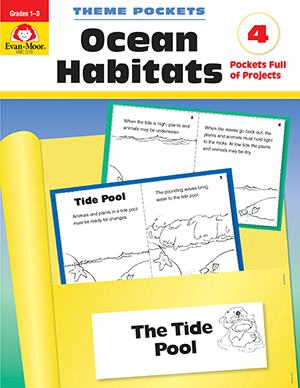 Theme Pockets: Ocean Habitats, Grades 1-3 - E-book