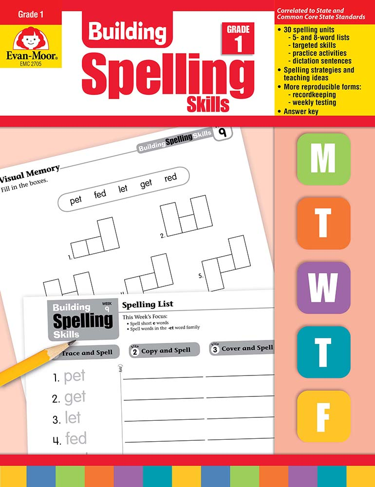 Evan-Moor Building Spelling Skills, Grade 1 - Teacher's Edition, Print
