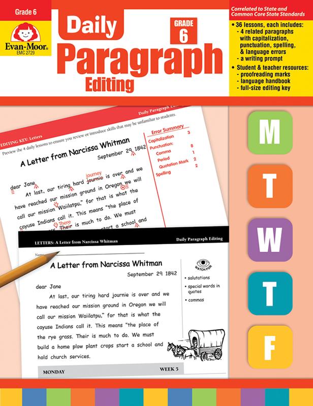 Daily Paragraph Editing, Grade 6 - Teacher's Edition, E-book