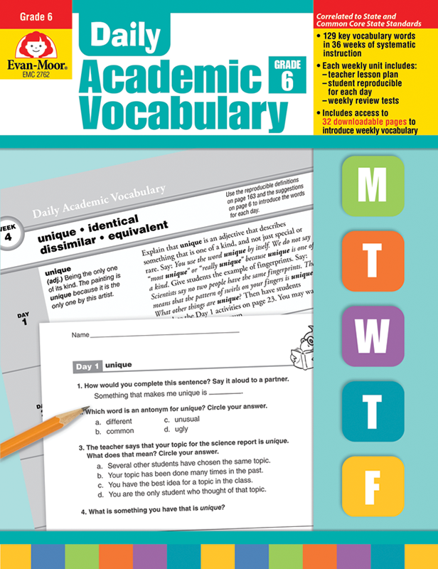 Daily Academic Vocabulary, Grade 6+ - Teacher's Edition, E-book