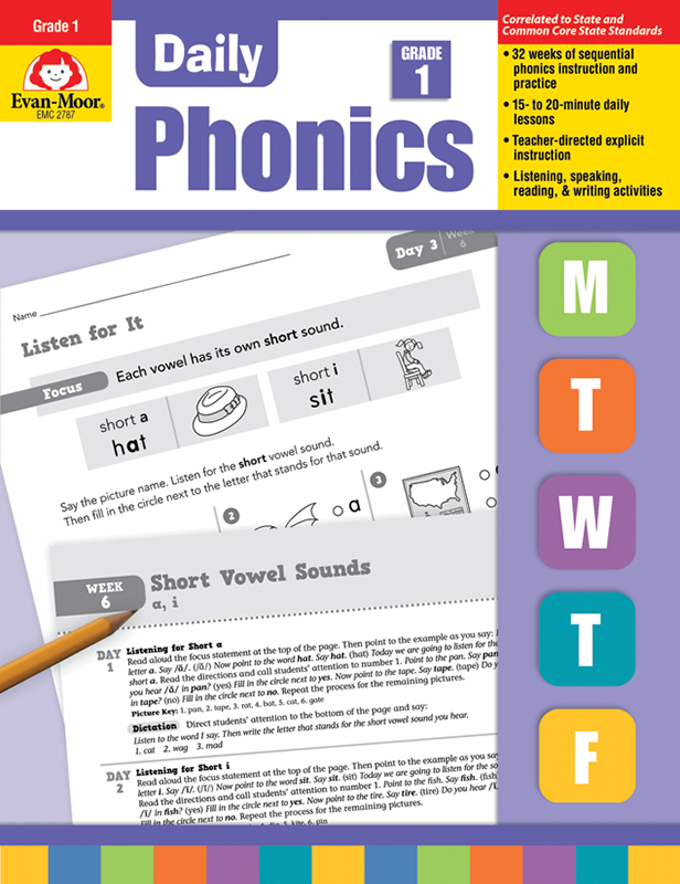 Daily Phonics, Grade 1 - Teacher's Edition, E-book