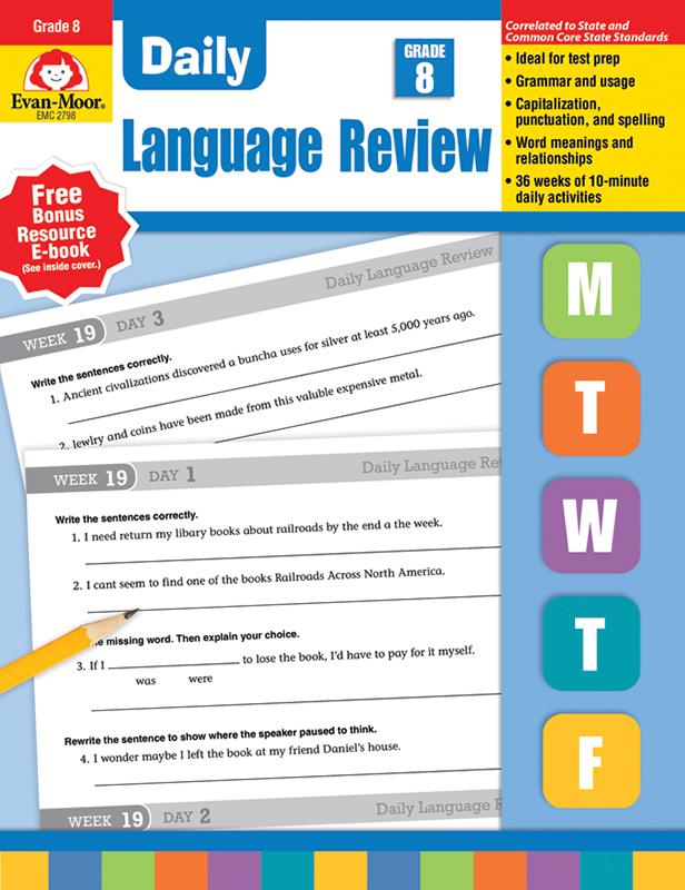Daily Language Review, Grade 8 - Teacher's Edition, E-book