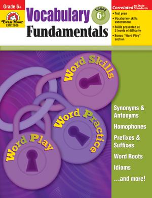 Evan-Moor Vocabulary Fundamentals, Grade 6+ - Teacher Reproducibles, Print