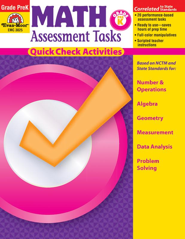 Math Assessment Tasks, Grade PreK - E-book
