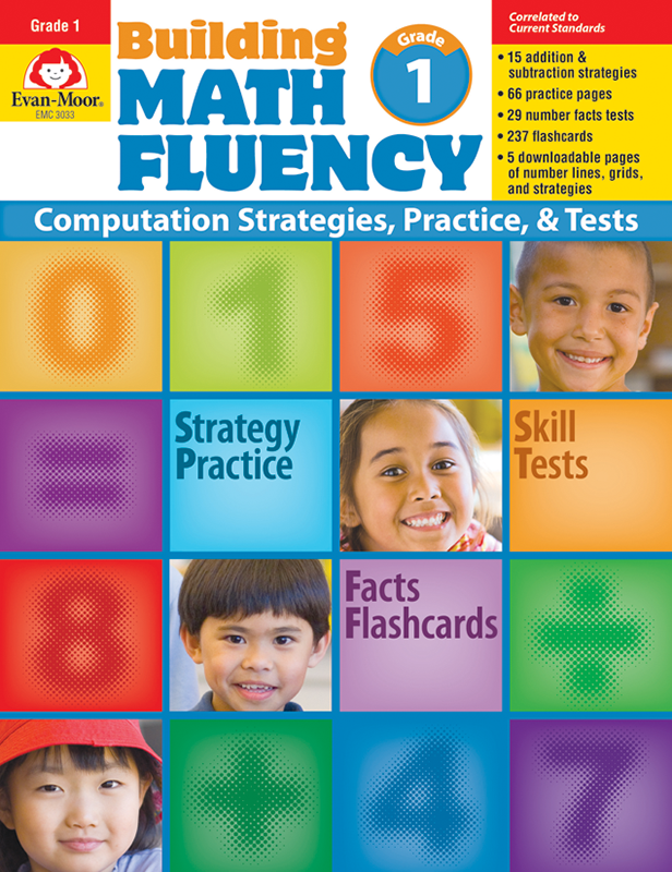 Building Math Fluency, Grade 1 - E-book