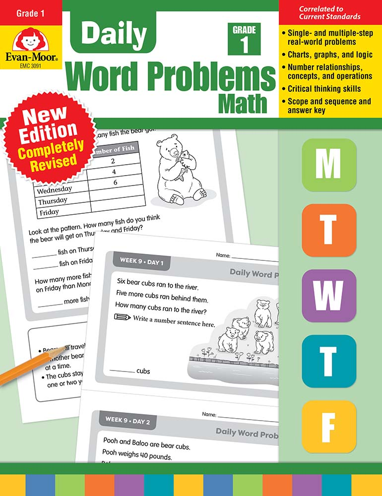 Evan-Moor Daily Word Problems, Grade 1 - Teacher's Edition, Print