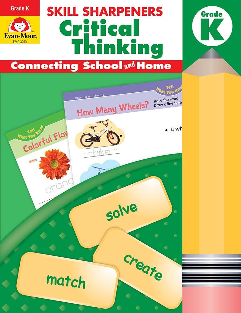 Evan-Moor Skill Sharpeners: Critical Thinking, Grade K - Activity Book