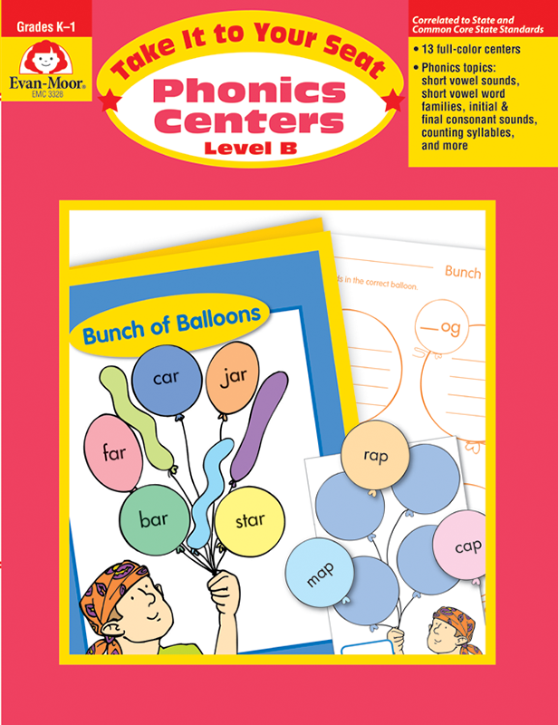 Take It to Your Seat: Phonics Centers, Grades K-1 (Level B) -   E-book