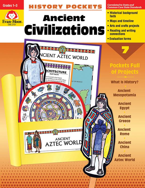 Evan-Moor History Pockets: Ancient Civilizations, Grades 1-3 - Teacher Reproducibles, E-book