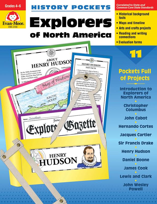 History Pockets: Explorers of North America, Grades 4-6+ - E-book