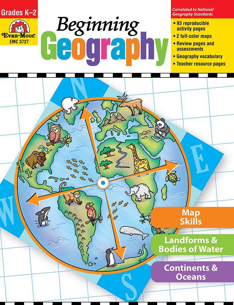 Evan-Moor Beginning Geography, Grades K-2 - Teacher Reproducibles, Print