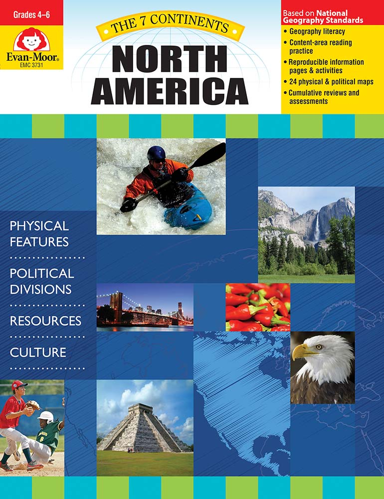 Help your students explore the landforms, political divisions, resources, and culture of North America! The 7 Continents: North America helps students develop geography literacy while they learn about the unique characteristics of North America.