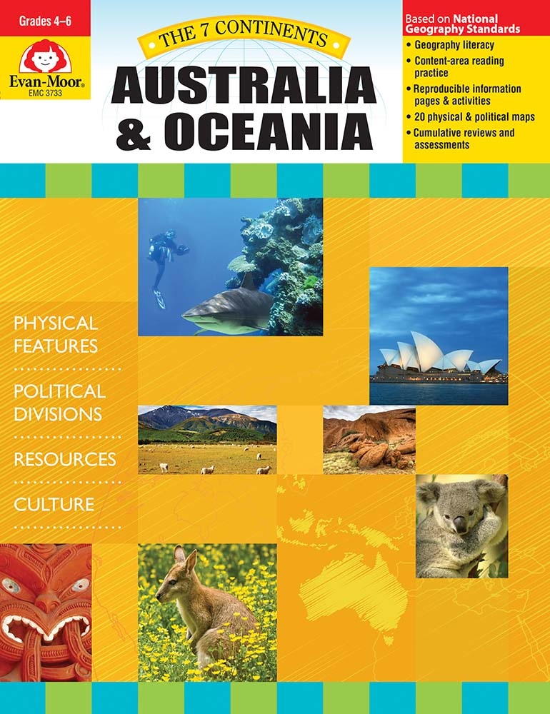 Help your students explore the landforms, political divisions, and culture of Australia and Oceania! The 7 Continents: Australia and Oceania helps students develop geography literacy while they learn about the unique characteristics of Australia.