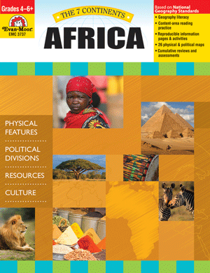 Help your students explore the landforms, political divisions, natural resources, and culture of Africa! The 7 Continents: Africa helps students develop geography literacy while they learn about the unique characteristics of Africa.