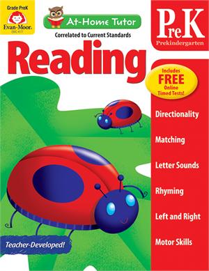 At-Home Tutor: Reading & Language, Grade PreK - Activity Book