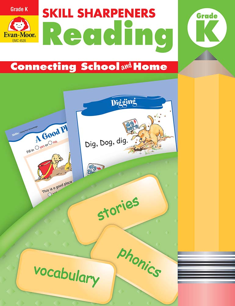 Evan-Moor Skill Sharpeners: Reading, Grade K - Activity Book