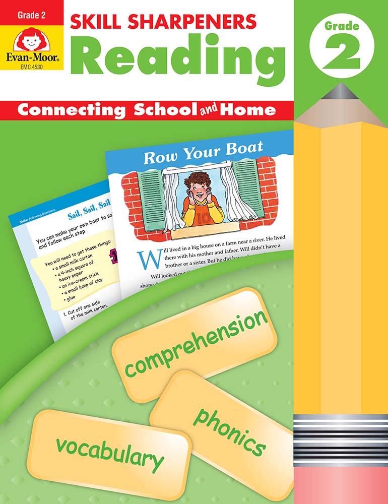 Evan-Moor Skill Sharpeners: Reading, Grade 2 - Activity Book