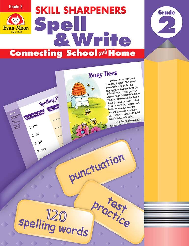 Skill Sharpeners: Spell & Write, Grade 2 - Activity Book