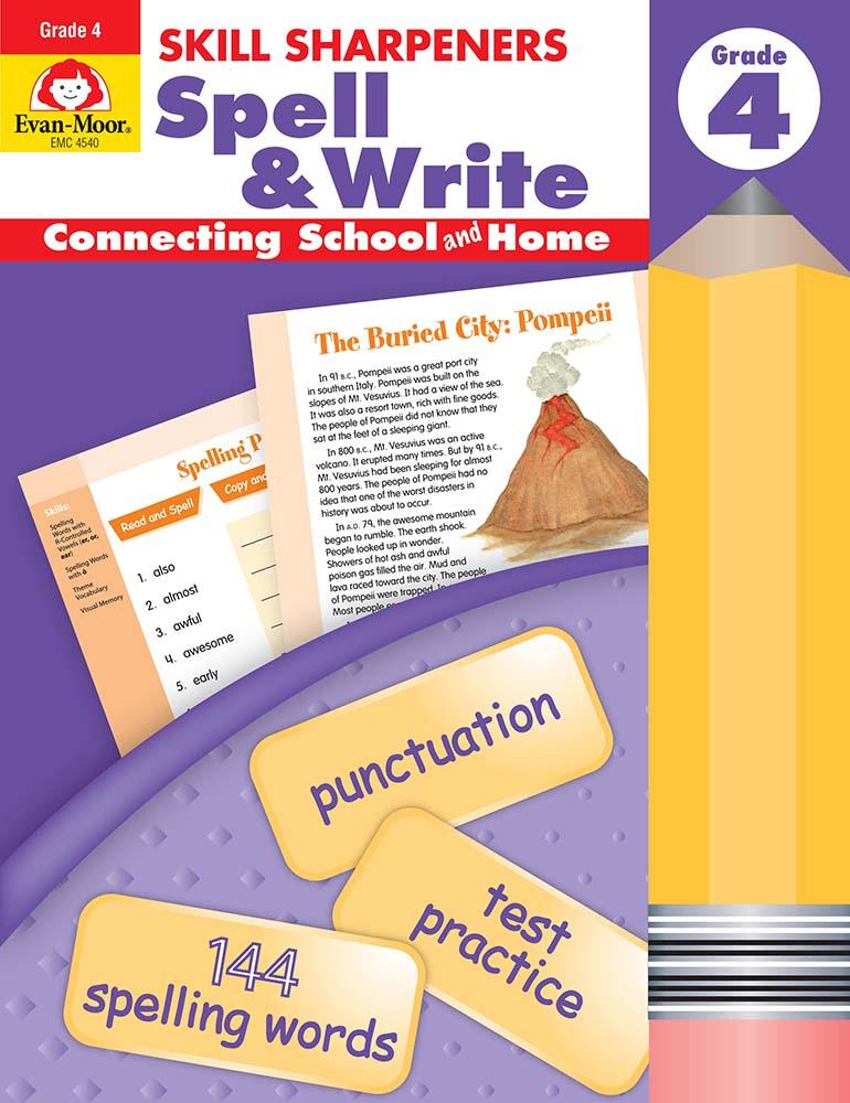Skill Sharpeners: Spell & Write, Grade 4 - Activity Book