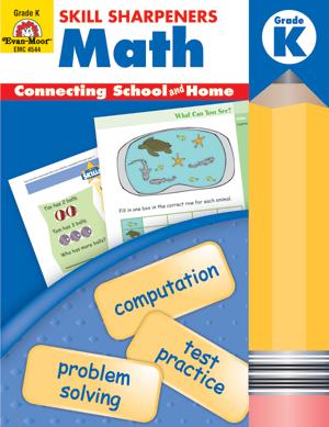Evan-Moor Skill Sharpeners: Math, Grade K - Activity Book