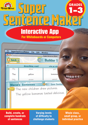Super Sentence Maker, Grades 1-3 - Interactive Learning Games