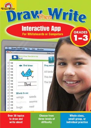 Draw…Then Write, Grades 1-3 - Interactive Learning Games