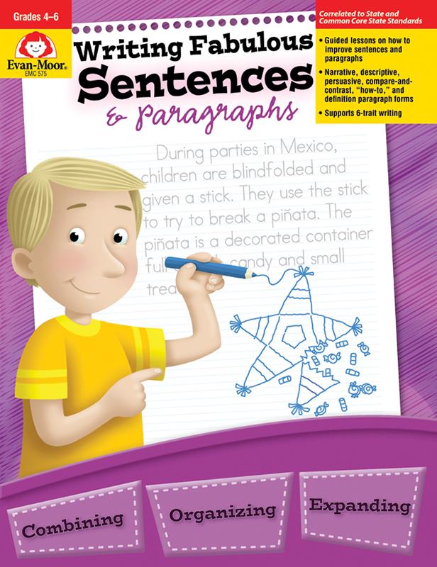 Writing Fabulous Sentences & Paragraphs, Grades 4-6 - E-book