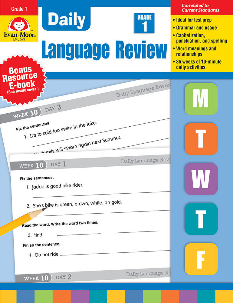 Daily Language Review, Grade 1 - Teacher's Edition, Print