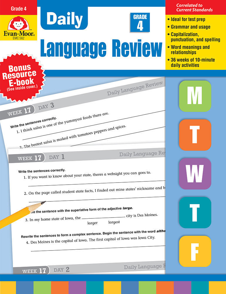 Daily Language Review, Grade 4 - Teacher's Edition, Print