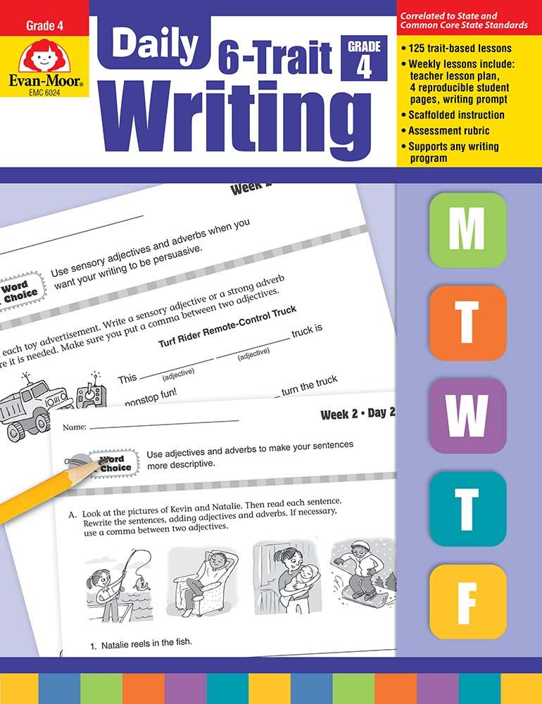 Daily 6-Trait Writing, Grade 4 - Teacher's Edition, Print