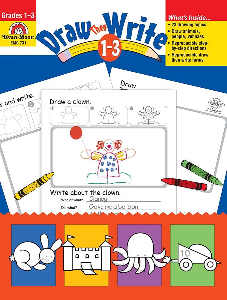 Draw?Then Write, Grades 1-3 - Teacher Resource Book, Print