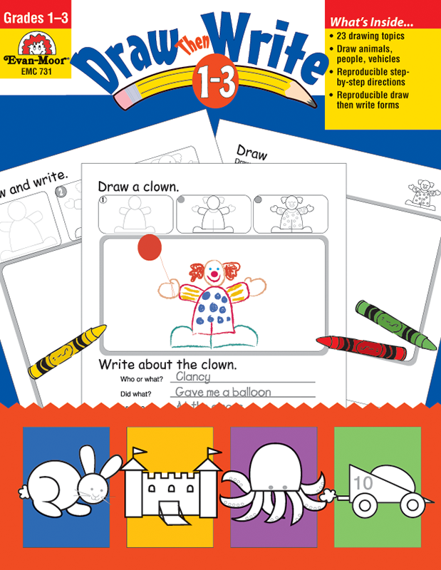 Draw?Then Write, Grades 1-3 - Teacher Resource Book, E-book
