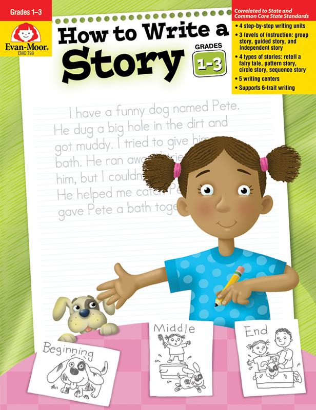 Evan-Moor How to Write A Story, Grades 1-3 - Teacher Reproducibles, E-book