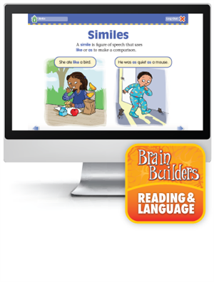 Brain Builders: Reading and Language, Grade 4 - Interactive Learning Games