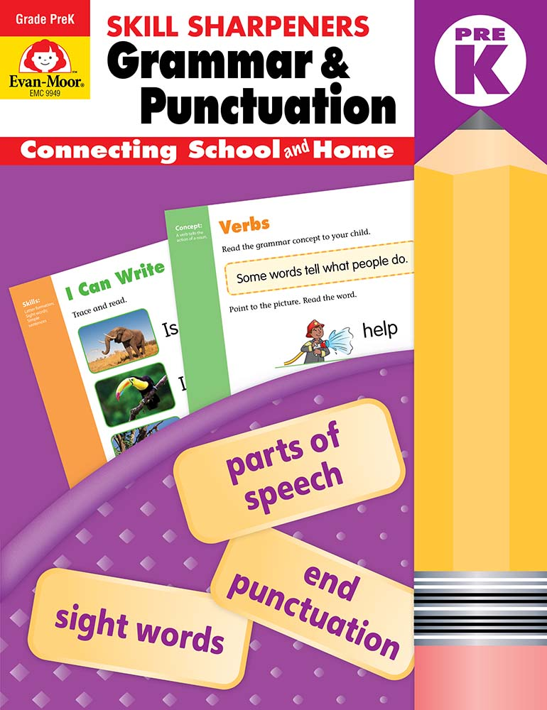 Evan-Moor Skill Sharpeners: Grammar & Punctuation, Grade PreK - Activity Book